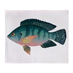 Nile Tilapia Throw Blanket