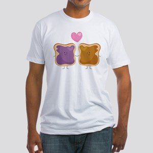 Peanut Butter Loves Jelly Fitted T-Shirt