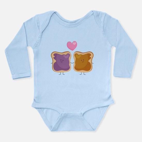 Peanut Butter Loves Je Long Sleeve Infant Bodysuit
