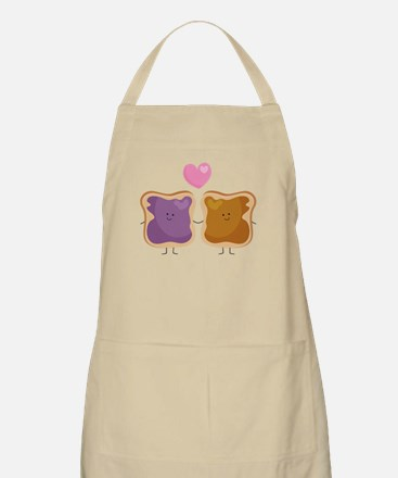 Peanut Butter Loves Jelly Apron