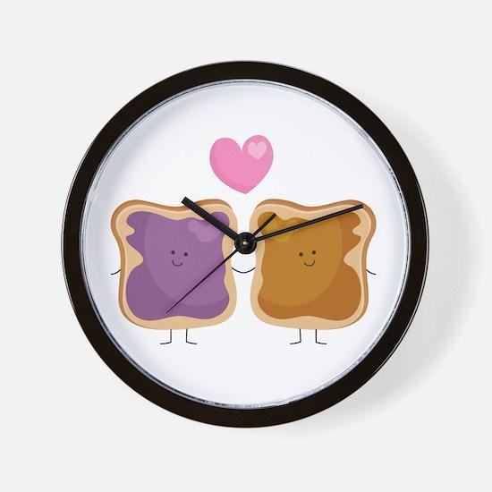 Peanut Butter Loves Jelly Wall Clock