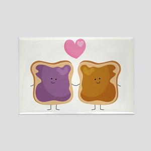 Peanut Butter Loves Jelly Rectangle Magnet Magnets