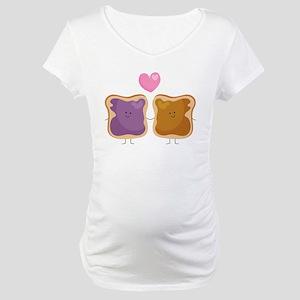 Peanut Butter Loves Jelly Maternity T-Shirt