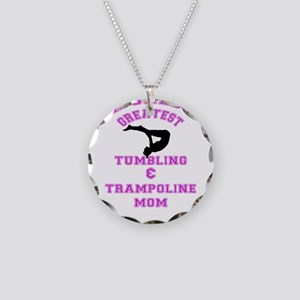 Tumbling and Trampoline Mom Necklace Circle Charm