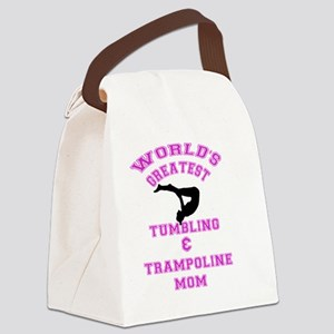 Tumbling and Trampoline Mom Canvas Lunch Bag