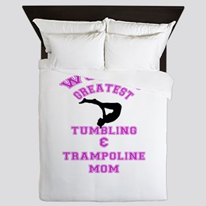 Tumbling and Trampoline Mom Queen Duvet