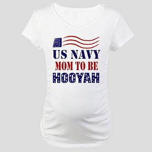 US Navy Mom to Be Hooyah Maternity T-Shirt