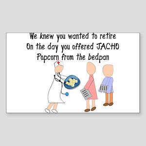 Retired Nurse Story Art Sticker