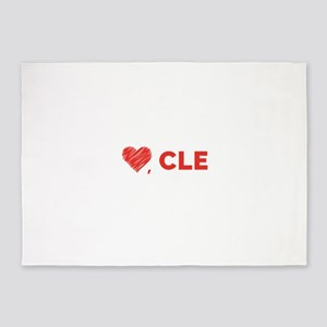 Love, CLE 5'x7'Area Rug