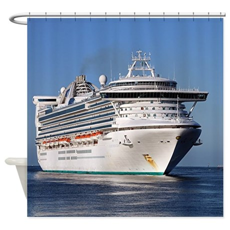 Golden Princess Cruise Ship Shower Curtain By ADMINCP - Cruise ship shower