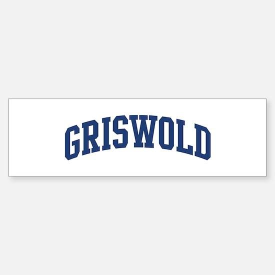 GRISWOLD design (blue) Bumper Bumper Bumper Sticker
