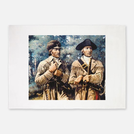Lewis and clark gather 5'x7'Area Rug