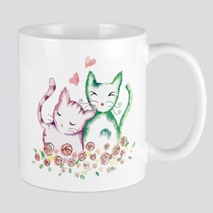 Cats In Love Watercolor Mug