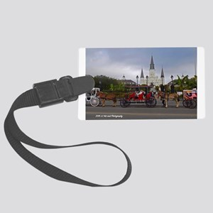 Jackson Square W/carriages Large Luggage Tag