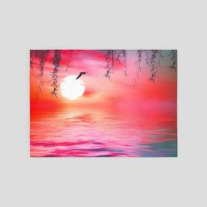 Beautiful Sunset 5'x7'Area Rug