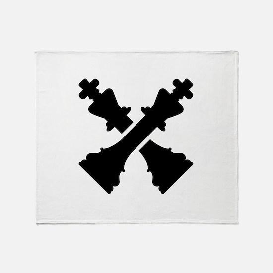 Chess king Throw Blanket