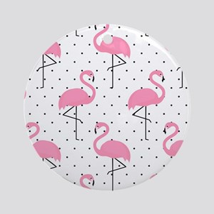 Cute Flamingo Round Ornament