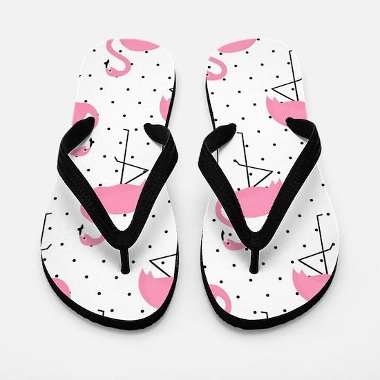 Cute Flamingo Flip Flops