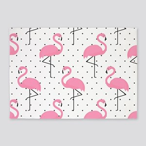 Cute Flamingo 5'x7'Area Rug