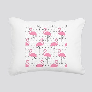 Cute Flamingo Rectangular Canvas Pillow