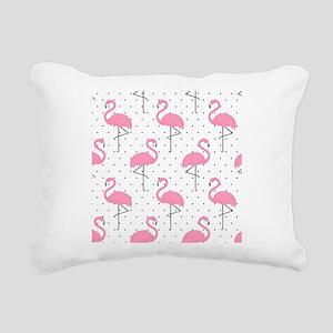 Cute Flamingo Rectangular Canvas Pillow