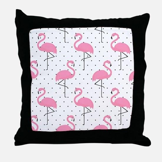 Cute Flamingo Throw Pillow