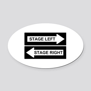 Stage Left Oval Car Magnet