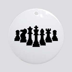 Chess game Round Ornament