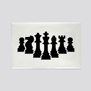 Chess game Rectangle Magnet