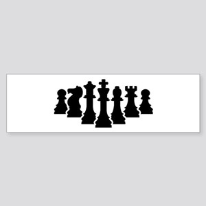 Chess game Sticker (Bumper)