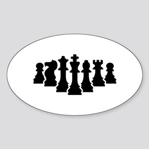 Chess game Sticker (Oval)