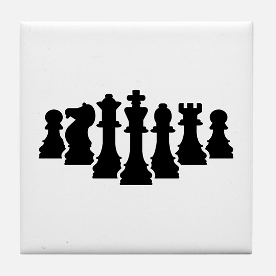 Chess game Tile Coaster