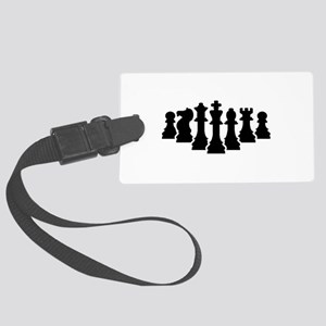 Chess game Large Luggage Tag