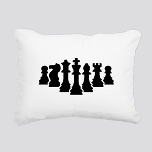 Chess game Rectangular Canvas Pillow