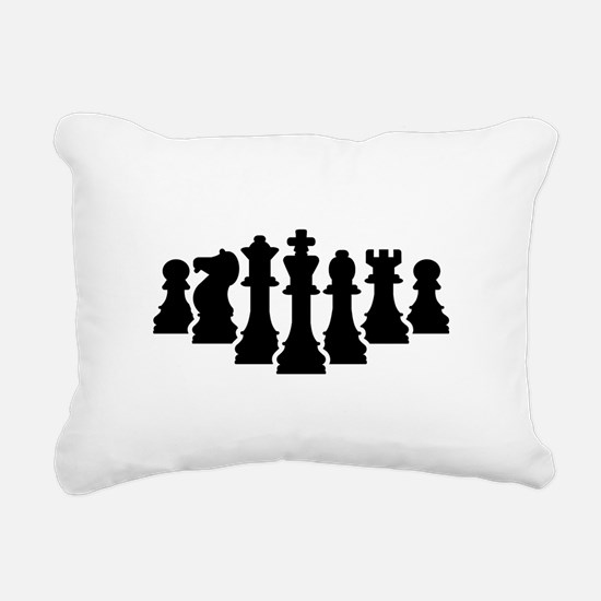 Chess game Rectangular Canvas Pillow