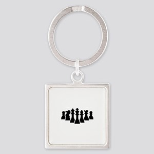 Chess game Square Keychain