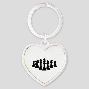 Chess game Heart Keychain