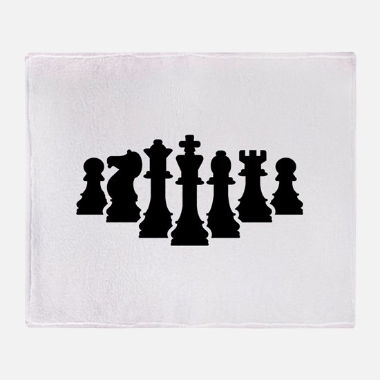 Chess game Throw Blanket