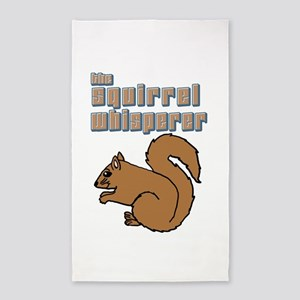 the squirrel whisperer Area Rug