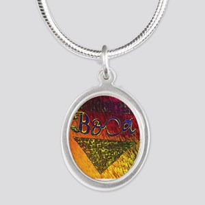 BOca Argentina Silver Oval Necklace