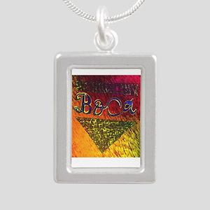 BOca Argentina Silver Portrait Necklace