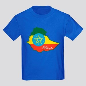 Cool Ethiopia Kids Dark T-Shirt