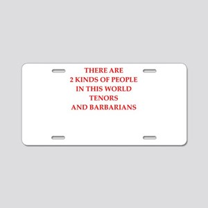 tenor Aluminum License Plate