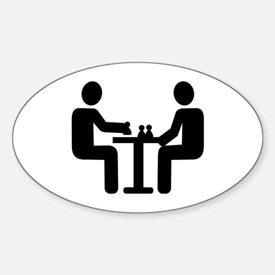 Chess player Sticker (Oval)