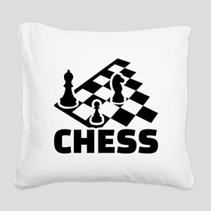 Chess Square Canvas Pillow