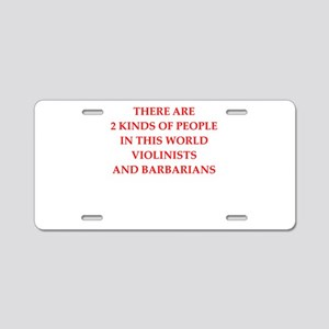 violing Aluminum License Plate