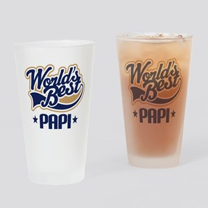 Worlds Best Papi Gift Idea Drinking Glass