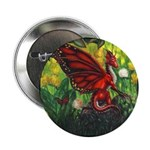 """""""Fairy Dragon"""" Red Fairy Dragon Button (10 pack)"""