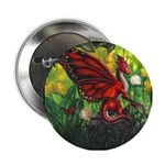 """Fairy Dragon"" Red Fairy Dragon Button, Dragon Pin"