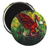 """Fairy Dragon"" Red Fairy Dragon Magnet"